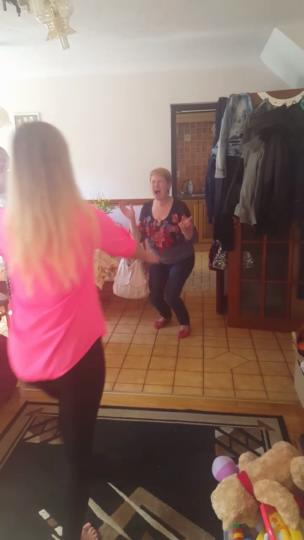 Girl surprises her mother from travelling collection item