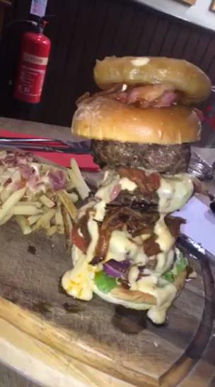 Amazing dirty burger from Leopard Bar and Tap in Norwich collection item