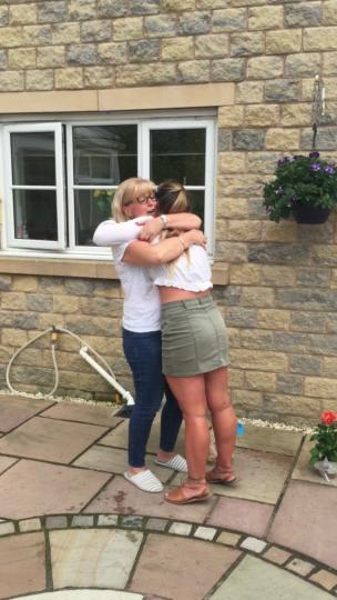Daughter surprises her mum after travelling for 7 months collection item