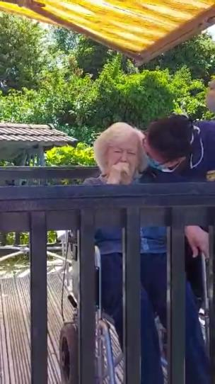Woman surprises her mum with a visit to the care home and she starts to cry collection item